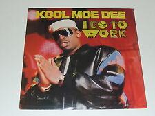 "KOOL MOE DEE i go to work 12"" RECORD HIP HOP 1989 SEALED"
