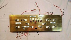 "Model Hobby Train Set Custom Switch Board with Wiring Approx 18"" x 5"""
