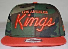 New Era Snap Back Hat - Green Camo / Orange - Basketball Cap