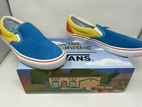 NEW Vans The Simpsons Slip On Pro Blue Yellow Size Men's 12