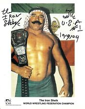 Iron Sheik Signed & Inscribed WWF Promo 8x10 Photo #1 WWE