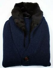 New Kiton Cashmere/Baby Beaver Deep Blue Sweater M (Sw-3113)