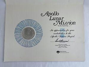 1969 ORIGINAL APOLLO 8 LUNAR MISSION ORBIT SPACE FLOWN ALLOY COIN & CERT ROCKWEL