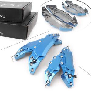 4PCS Blue 3D Car Disc Brake Caliper Covers Front Rear Kit Wheels Accessories