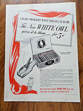 1940 White Owl Cigar Ad Havana Flavor 1940 Cannont Towels Sets Ad