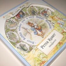 NIP / New Vintage 1994 PETER RABBIT BIRTHDAY PLATE by Wedgwood  Made in England