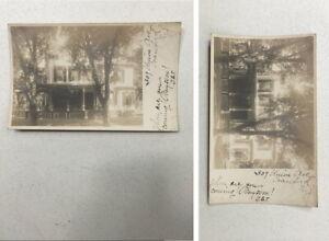 RPPC REAL PHOTO POSTCARD 309 UNION AVE. CRANFORD NJ  1906