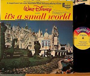 Walt Disney It's a Small World Vinyl LP + Color Book Disneyland 3925 Early Press