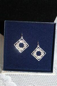 Nib Montana Silversmiths Earrings~Silver Copper Beaded Square~#ER2678SC Msr $44