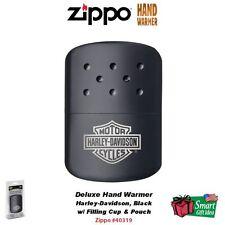 Zippo Hand Warmer Harley-Davidson, Black Handwarmer w/ Bag & Filling #40319