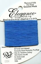 Rainbow Gallery Elegance #E854 Blue #8 Perle Silk Pearl Thread 100% Silk 20yds