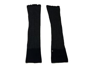 Women's Lululemon Studio Leg Warmers Black Gray One Size