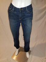 Eddie Bauer Modern Boot Cut Jeans Specially Dyed Dark Wash Stretch Size 10 EUC