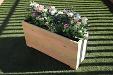 1 METRE LARGE EXTRA TALL WOODEN GARDEN PLANTER TROUGH HAND MADE IN DECKING