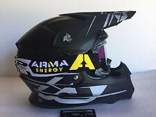 M Medium Acerbis Motorbike Motocross MX Helmet & ARMA Iridium Goggles Matt Black