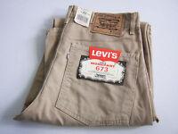 Levi's 673 Work Pant Jeans Mens W30 W32 W34 Beige Unworn Carpenter NWT Vintage