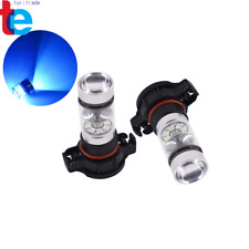 2x H16 5202 PS24WFF 8000K Ice Blue 100W  LED Fog Light Driving Bulb DRL NEW