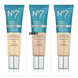No7 Protect & Perfect ADVANCED All in One Foundation - CHOOSE SHADE - NEW Sealed