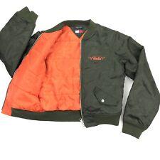 VTG Tommy Hilfiger Women's Military Bomber Jacket Army Green • Medium
