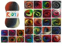 King Cole Riot DK Multi Coloured Knitting Yarn - 100g Acrylic Wool Blend