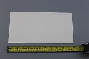 ".030"" THICK SNOW WHITE POLYPROPYLENE PLASTIC SHEET 6"" x 12"" LIGHT DIFFUSING"