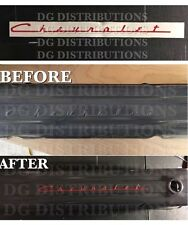 """Decal for Chevrolet about 13.5"""" SCRIPT 235 embossed valve cover"""