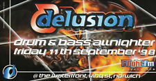 DELUSION 11/9/98 Classic Rave Flyer