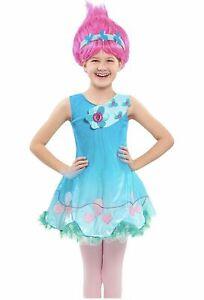 Trolls, Just Play, Princess Poppy Dress Girls Size 4-6 NEW