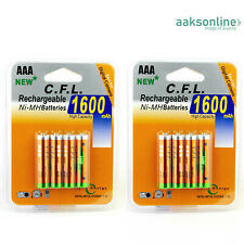 8x AAA 1600 mAh NI-MH AKKU Wiederaufladbar Batterie Accu Rechargeable Micro CFL