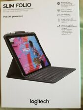 Logitech - Slim Folio Keyboard Case for Apple® iPad® (7th Generation 2019) - ...