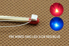 DT3528RB 20pcs Pre-soldered litz wired leads Bi-color RED/BLUE SMD Led 3528 DUAL