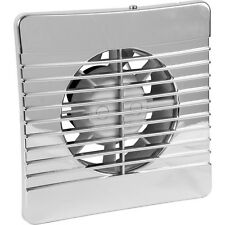NEW 100mm Chrome Low Profile Extractor Fan Timer Each