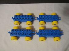 Lego Duplo Train Car Vehicles Building Lot Set   Blue & Yellow Wheels BRAND NEW