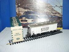 """TRAIN ECHELLE HO HORNBY WAGON FRIGORIFIQUE """" STEF """" DE LA SNCF échelle 1/87 ème"""