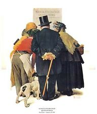 Norman Rockwell Stock Market Stock Exchange Quotations