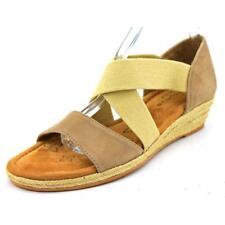 Sandalias con tiras de mujer de color principal beige de ante