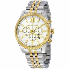 Michael Kors Men's Lexington Two Tone Gold Silver Chronograph Watch MK8344