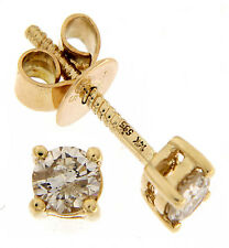 14K Solid Yellow Gold 10.22 CT Real Solitaire Diamond Classic Fine Stud Earrings