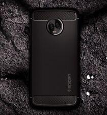Custodia per Motorola MOTO G6 PLUS - Cover originale Spigen [RUGGED ARMOR] Nero