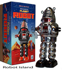 Planet Robot Chrome Schylling Tin Toy Windup Robby the Robot - Summer SALE!