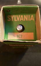Vintage Sylvania 6C7 tube. In original box. Nos.
