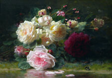 Rose Buds Roses Bouquet Flowers Dutch Master Floral Painting Canvas Print