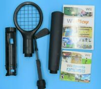 Wii Sports Complete + Wii Play + Accessories Bundle (Nintendo Wii) TESTED