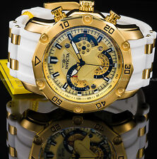 Invicta 50mm Men's Pro Diver Scuba 3.0 Chronograph 18K Gold IP SS PU Tachy Watch