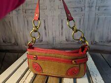 burlap purse handbag bag tote shoulder satchel shoulder brown tan red mini