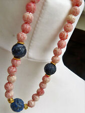 Gorgeous Necklace with Chinese carved Shou beads