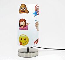 Emoji Lamp Night Light Lampshade Boys Girls Kids Bedroom Desk Smiley Face White