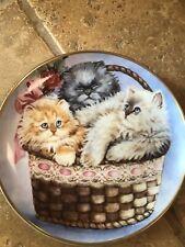 Three Little Kittens by K. Duncan Plate No. F7704 Franklin Mint