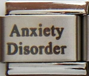 Anxiety Disorder Laser Medical Alert for Italian Charm Bracelets Free ID Card