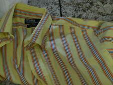 Polo Ralph Lauren yellow madras curham custom fit dress shirt men's 16 34/35